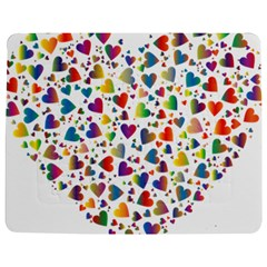 Chaotic Colorful Heart Fractal Jigsaw Puzzle Photo Stand (Rectangular)