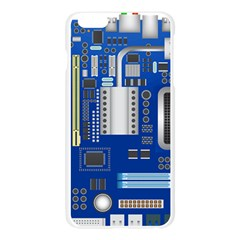 Classic Blue Computer Mainboard Apple Seamless iPhone 6 Plus/6S Plus Case (Transparent)