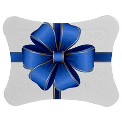 Decorative Blue Bow Transparent Clip Art Jigsaw Puzzle Photo Stand (Bow)