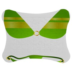Green Swimsuit Jigsaw Puzzle Photo Stand (Bow)