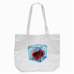 Heart In Ice Cube Tote Bag (White)