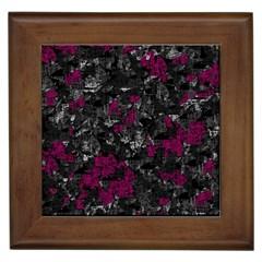Magenta and gray decorative art Framed Tiles