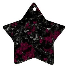 Magenta and gray decorative art Ornament (Star)