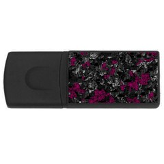 Magenta and gray decorative art USB Flash Drive Rectangular (2 GB)