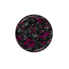 Magenta and gray decorative art Hat Clip Ball Marker