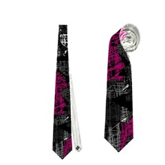 Magenta and gray decorative art Neckties (One Side)