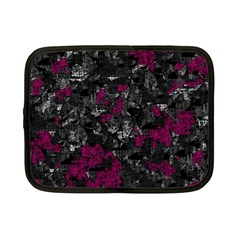 Magenta and gray decorative art Netbook Case (Small)