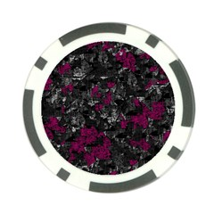 Magenta and gray decorative art Poker Chip Card Guards (10 pack)