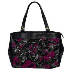 Magenta and gray decorative art Office Handbags (2 Sides)