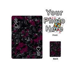 Magenta and gray decorative art Playing Cards 54 (Mini)