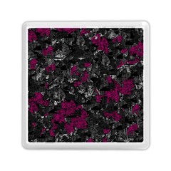 Magenta and gray decorative art Memory Card Reader (Square)