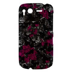 Magenta and gray decorative art HTC Desire S Hardshell Case