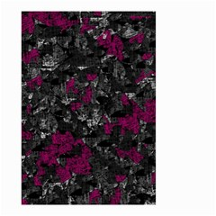 Magenta and gray decorative art Small Garden Flag (Two Sides)
