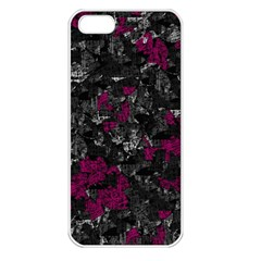 Magenta and gray decorative art Apple iPhone 5 Seamless Case (White)