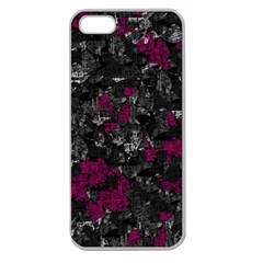 Magenta and gray decorative art Apple Seamless iPhone 5 Case (Clear)