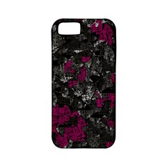 Magenta and gray decorative art Apple iPhone 5 Classic Hardshell Case (PC+Silicone)