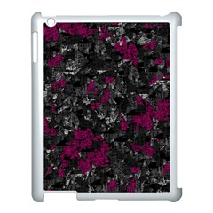 Magenta and gray decorative art Apple iPad 3/4 Case (White)