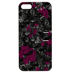 Magenta and gray decorative art Apple iPhone 5 Hardshell Case with Stand