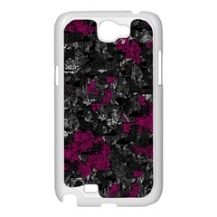 Magenta and gray decorative art Samsung Galaxy Note 2 Case (White)