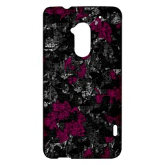 Magenta and gray decorative art HTC One Max (T6) Hardshell Case