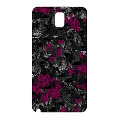 Magenta and gray decorative art Samsung Galaxy Note 3 N9005 Hardshell Back Case