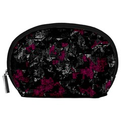 Magenta and gray decorative art Accessory Pouches (Large)