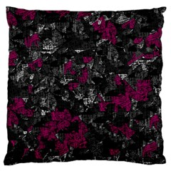 Magenta and gray decorative art Large Flano Cushion Case (One Side)