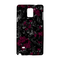 Magenta and gray decorative art Samsung Galaxy Note 4 Hardshell Case