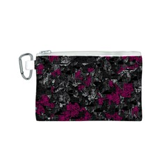 Magenta and gray decorative art Canvas Cosmetic Bag (S)
