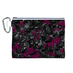 Magenta and gray decorative art Canvas Cosmetic Bag (L)