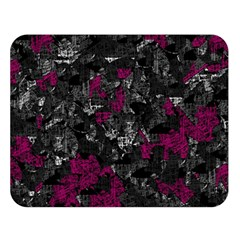 Magenta and gray decorative art Double Sided Flano Blanket (Large)
