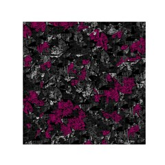Magenta and gray decorative art Small Satin Scarf (Square)