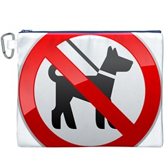 No Dogs Sign Prohibition Clipart Canvas Cosmetic Bag (XXXL)