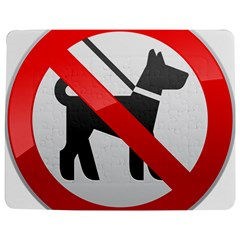 No Dogs Sign Prohibition Clipart Jigsaw Puzzle Photo Stand (Rectangular)