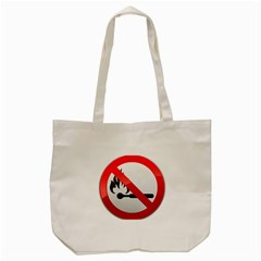 No Naked Flames Prohibition Sign Clipart Tote Bag (Cream)