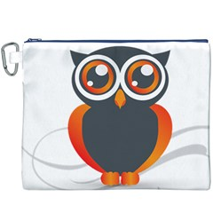 Owl Logo Canvas Cosmetic Bag (XXXL)
