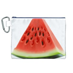 Piece Of Watermelon Canvas Cosmetic Bag (XL)