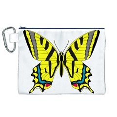 Simple Butterfly Vector Canvas Cosmetic Bag (XL)