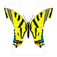 Simple Butterfly Vector Women s Cap Sleeve Top