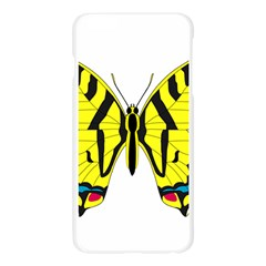 Simple Butterfly Vector Apple Seamless iPhone 6 Plus/6S Plus Case (Transparent)