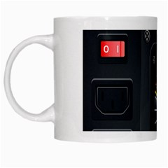Special Black Power Supply Computer White Mugs