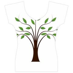 Tree Vector Women s V-Neck Cap Sleeve Top