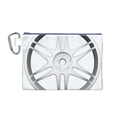 Wheel Skin Cover Canvas Cosmetic Bag (M)