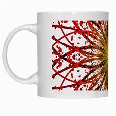 A Fractal Flower White Mugs