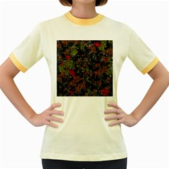 Autumn colors  Women s Fitted Ringer T-Shirts