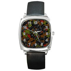 Autumn colors  Square Metal Watch