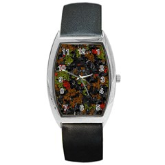 Autumn colors  Barrel Style Metal Watch