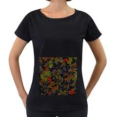 Autumn colors  Women s Loose-Fit T-Shirt (Black)