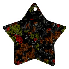 Autumn colors  Star Ornament (Two Sides)