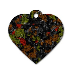 Autumn colors  Dog Tag Heart (Two Sides)